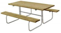 Classic bordbænkesæt - stål med planker