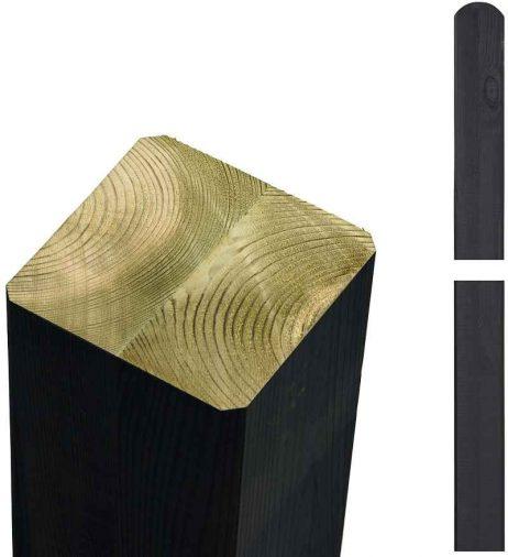 Limtræsstolpe 9x9x298 cm - sort