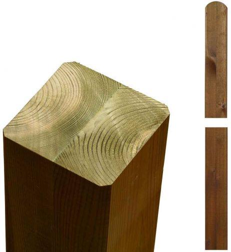 Limtræsstolpe 9x9x298 cm - teak