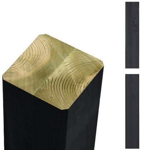 Limtræsstolpe 9x9x369cm - sort